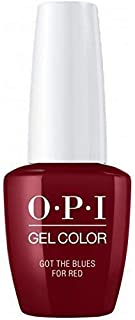 OPI GelColor Soak Off LED/UV Gel Nail Polish W52 Got The Blues For Red 15ml