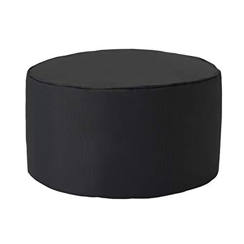Lumaland Indoor Outdoor Sitzhocker 25 x 45 cm - Runder Sitzpouf, Sitzsack Bodenkissen, Sitzkissen, Bean Bag Pouf - Wasserabweisend - Pflegeleicht - ideal für Kinder und Erwachsene - Anthrazit