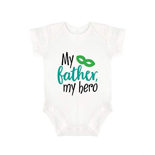 Promini Lindo Bebé Mono Mi Padre Mi Héroe Bebé Mono Bebé Una Pieza Mameluco El Mejor Regalo Para Bebé