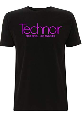 Men's Technoir Nightclub Purple Neon Sign T-shirt