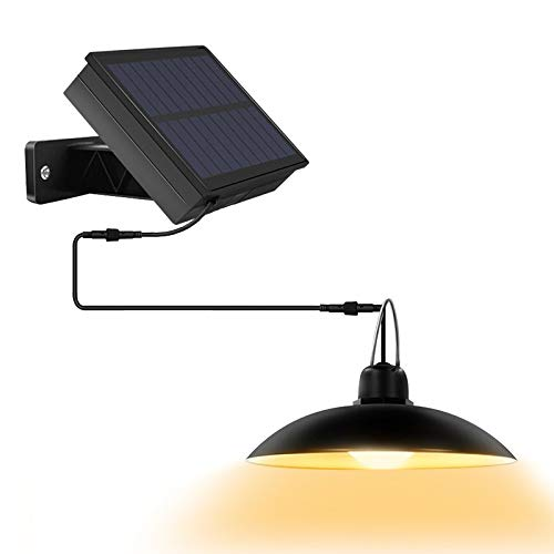 Katigan Luces Solares Al Aire Libre, IP65, Luz Colgante Impermeable, Panel Solar Ajustable para el JardíN del Hogar, DecoracióN, Blanco CáLido