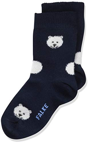 FALKE Socken Polar Bear Baumwolle Größe 62-92 Baby grau blau viele weitere Farben kurze Babysocken mit Motiv dünn bunt mit Tiere Eisbär 1 Paar