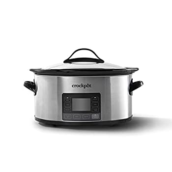 Crock-pot 2137020 MyTime Technology 6-Quart Programmable Slow Cooker Stainless Steel