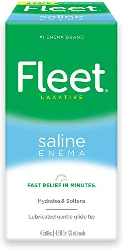 Fleet Saline Enema Four Pack 18 oz (Pack of 2)