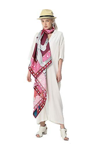 TaoRan Zijdesjaal voor dames, zijdesjaal, sjaal, strand, zonnecrème, sjaal, geschenk