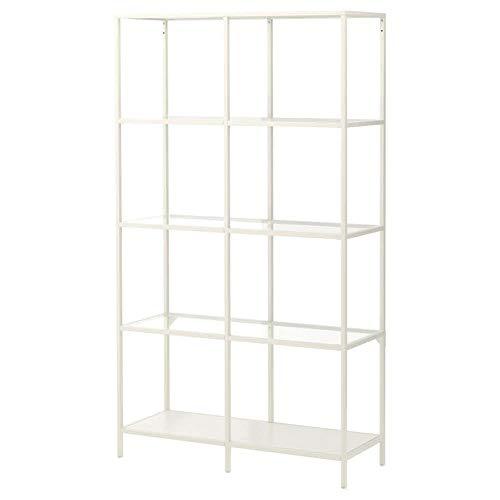 IKEA Asien Vittsjö Regal, weiß, Glas