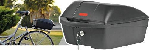 P4B TOP CASE abnehmbare Gepäckträgerbox, Schwarz, 11 Liter Fassungsvermögen