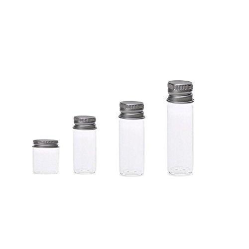 10 Clair petits flacons en verre bouchon bocaux Bouteilles À faire soi-même pendentifs diverses couleurs//formes