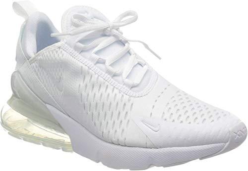 Nike Herren Air Max 270 (gs) Leichtathletikschuhe, Weiß (White/White/Metallic Silver 000), 38.5 EU