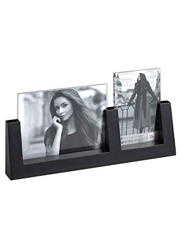 Walther Design Friends Portraitrahmen für zwei Fotos 10x15 + 13x18 cm, schwarz