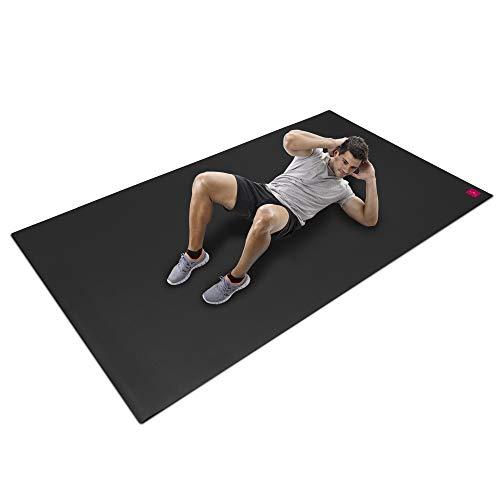 SHANTI NATION - Cardio Mat - große Fitnessmatte - lang und breit (2,5 x 1,5 m) - rutschfest - für Intensive Workouts - Abriebfest - mit Schuhen benutzbar - inklusive Aufbewahrungstasche