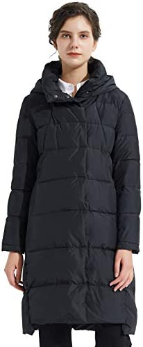 Orolay Women s Hooded Down Jacket Long Winter Coat Stand Collar Puffer Jacket Jet Black M product image