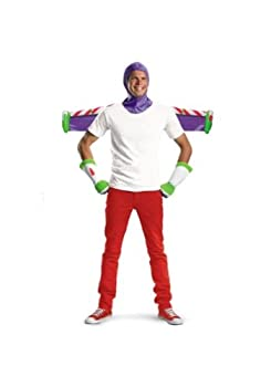Disguise Men s Disney Pixar Toy Story and Beyond Buzz Lightyear Adult Costume Kit White/Purple/Green/Red One Size