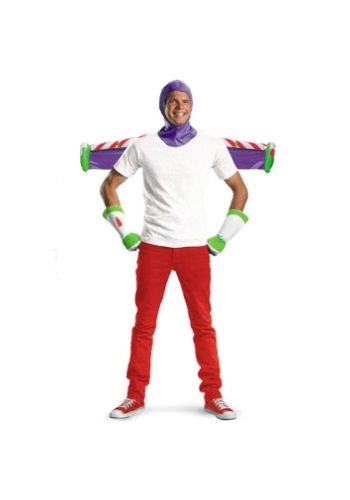 Disguise Men's Disney Pixar Toy Story and Beyond Buzz Lightyear Adult Costume Kit, White/Purple/Green/Red, One Size