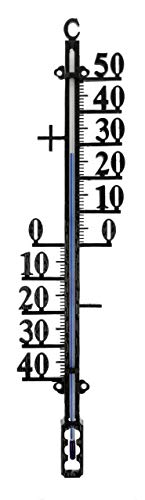 Lantelme Gartenthermometer 41 cm Metall analog Garten Thermometer Außenthermometer Innenthzermometer schwarz 2545