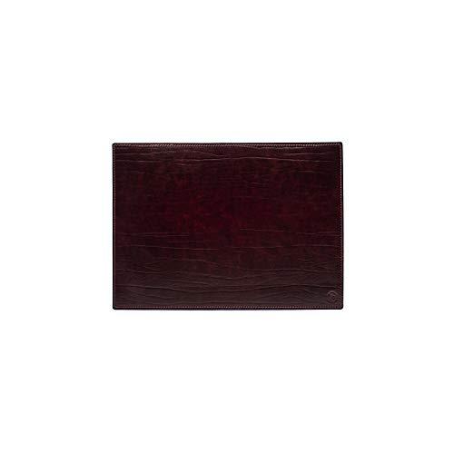 Vade para escritorio de oficina y alfombrilla para ordenador portátil, de piel, acabado artesanal – 50 x 35 cm – Fabricado en Italia | FP Pelletterie – Dante (Bordò)