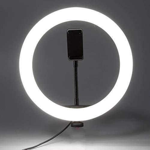 NXYJD Disparo Selfie Circular Foto Anillo Luz LED LED Fotográfico Videocámara Lámpara Estudio Iluminación Titular De Teléfono (Size : 16cm)