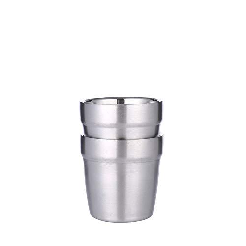 4 stuks dubbelwandige 304 roestvrij stalen ijskopjes koud water bier kopjes koffie melk thee citroensap beker 300 ml beker 300ml 2 stuks.