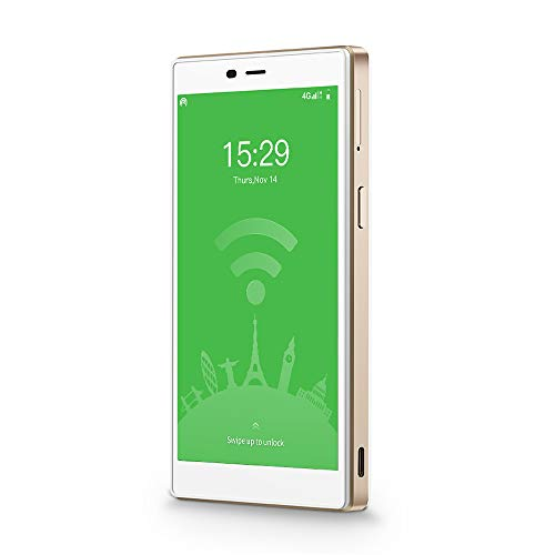 GlocalMe G4 Pro 【公式販売】 (White・白) モバイル WiFi ルーター SIMフリー 1.0GB分のグローバルデータパック付き ポケットWiFi 140を越える国や地域に対応 3900mAh モバイルバッテリー 軽量・薄型・大画面