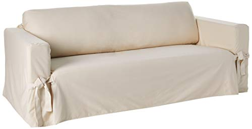 SureFit SF41844 Sofa Slipcover, Box Cushion, Natural