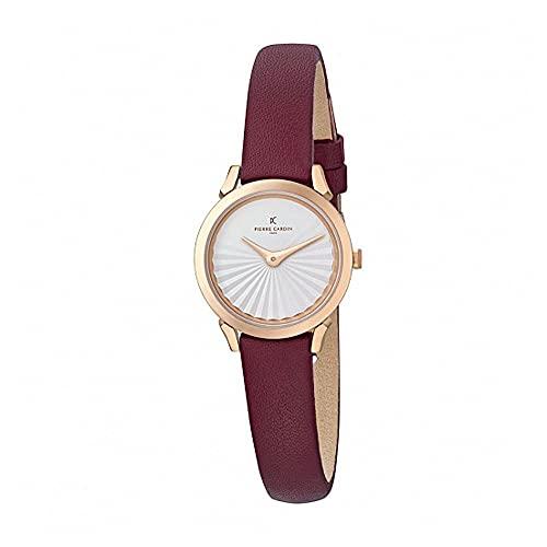 Pierre Cardin CPI.2512 - Reloj de pulsera para mujer (cuarzo, acero inoxidable, correa de piel)