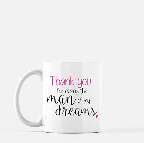 Tazas de café personalizadas | Gracias por criar el hombre de mis sueños | Madre del novio | Regalo de madre en la ley | Regalo de boda