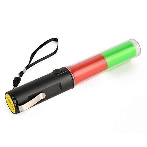 Mastiff M260gr contrôle du trafic Aimant Multifonctionnel 3 x AA Vert lumière Rouge 3 Modes Lampe de Poche LED Lampe de Signal pour Barre Lumineuse Baguette de sécurité Beacon