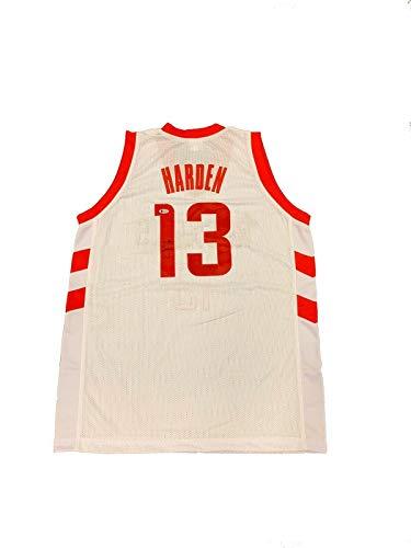 James Harden Signed Houston Rockets (Home White) Jersey BECKETT BAS - Autographed NBA Jerseys