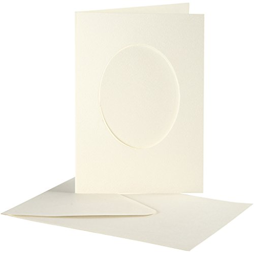 Creativ Company 23722 Passepartoutkarten, 10-teilig, elfenbeinfarben