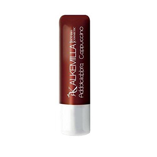 ALKEMILLA - Addolcilabbra Cappuccino - Beurre hydratant pour les lèvres - Certifié Bio - Avec Huile de Noisettes,de Tournesol et de Ricin - Apaisant et Hydratant - Produit en Italie - 5 ml