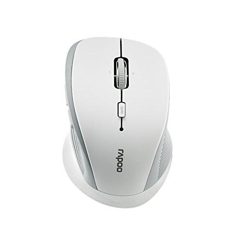 Rapoo 3910 kabellose optische Maus mit 2,4 GHz Wireless-Verbindung, hochauflösender 1000 DPI-Sensor, weiß