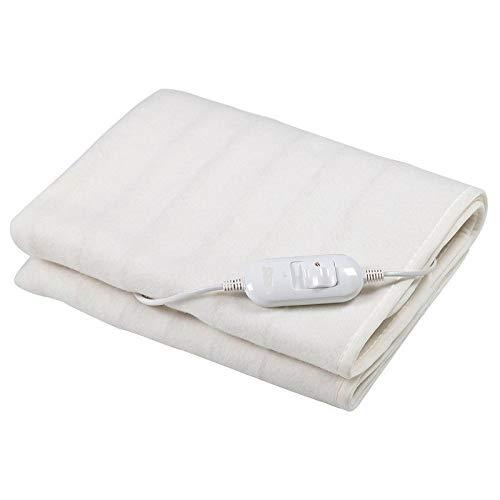 NOVUS Manta eléctrica para cama individual 60 W con 2 configuraciones de...