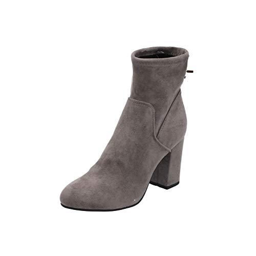 SPM Bendle-Ankle-Boot Damen Stiefel Grau Schnür-Stiefelette Winter, Größe:EUR 40