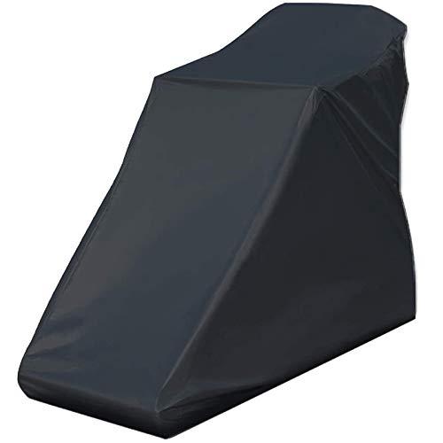 Haudang - Cubierta de cinta de correr, no plegable, resistente al agua, cubierta protectora adecuada para interiores o exteriores (color negro)