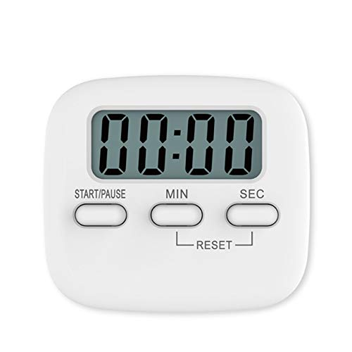 LCD digitaal scherm kookwekker Magnetic Koken Countdown Alarm Sleep Stopwatch temporizador Clock Multifunctionele Tools Home (Color : White A)