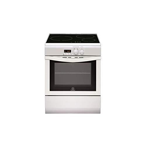 Cuisiniere induction Indesit I63IMP6AWFR - Cuisinière 60 cm Blanc - Table de cuisson Induction - Four Electrique 59 litres - Nettoyage Pyrolyse - Tournebroche - Porte froide - Classe énergétique A