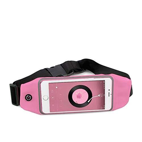 Ejecución De Soporte For Teléfono Móvil Correa De Cintura Maratón Gimnasio Impermeable Vientre Senderismo Bolsa De La Aptitud Mujeres Hombres Bolsa Accesorios Deporte 0121 (Color : Pink)