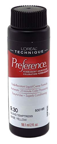 L'Oreal Preference Couleur # 9.3 blond Tentatrice