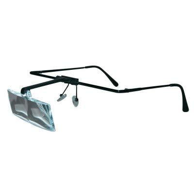 LED Lupenbrille für Reparatur Uhren und Schmuck - mit 3 Vergrößerungsstufen - bis zu 3,5X Vergrößerung - super LEICHT und STABIL - auch für BRILLENTRÄGER - mit austauschbaren Lupeneinsätzen