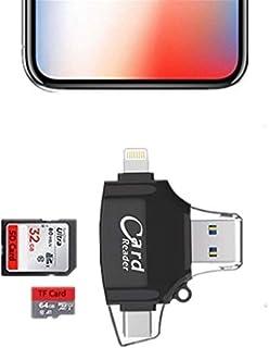 XKING sdカードリーダー スマホ パソコン データ保存 カードリーダー iPhone・Android対応 メモリーカードリーダー iOS/Micro USB全対応メモリーカードリーダー Lightning iPhone/iPad/Andr...