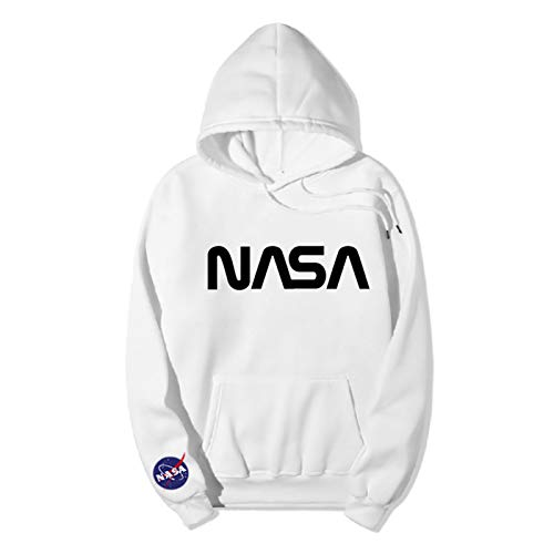 Unisex NASA Casual Camiseta de Manga Corta Sudadera con Capucha de Manga Larga Chaqueta con Cremallera Chaqueta de plumón
