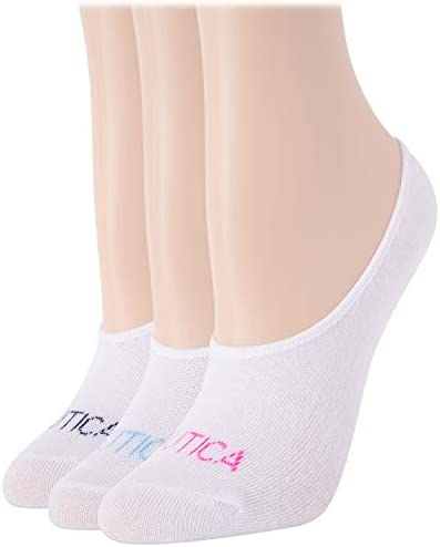 Nautica Women s No Show Stretchy Sport Liner Socks with Non Slip Grip 3 Pack Shoe Size 4 10 product image