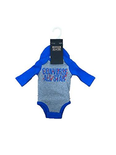 Converse Baby Jungen (0-24 Monate) Body Gr. 6-9 Monate, Grey/Soar Blue