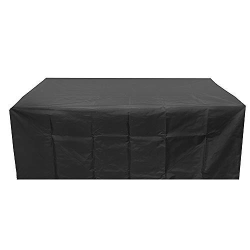 Housse de Protection Bâche Couverture Jardin Patio Anti-poussière Imperméable Couverture Rectangulaire pour Salon de Jardin Meuble Table Chaise 213x132x74cm
