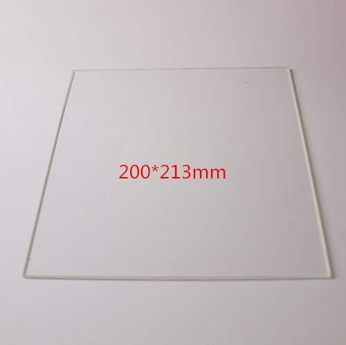 XBaofu 1pc 200 * 213 * 3mm Glas Drucken Tisch for Reprap 3D-Drucker Aufheizschüttung Borsilicatglasplatte rechteckige Platte (Größe : Shinny Type)