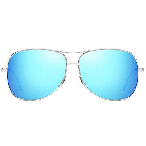 MGWA Gafas de sol de moda estilo salvaje, material de metal, coloridas, marco plateado, gris/plata/azul, lentes para hombres y mujeres con las mismas ...