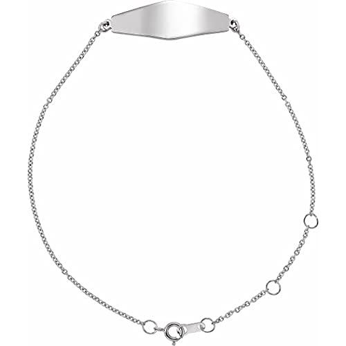 Plata de ley 925 sin personalización pulida curvada pulsera joyería regalos para las mujeres