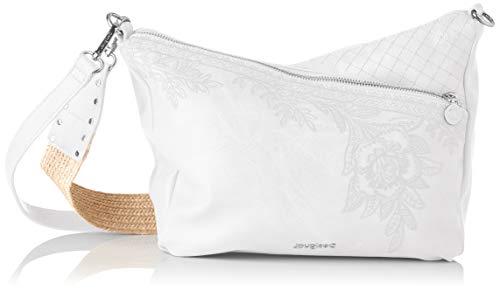 Desigual Womens PU Across Body Bag, White, U