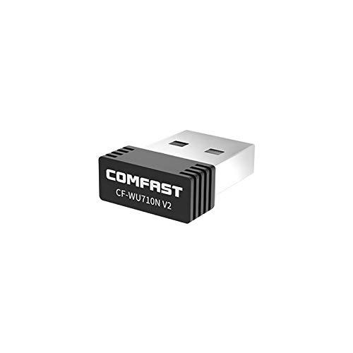 COMFAST Adaptador USB tarjeta de red Wi-Fi, inalámbrico 150 Mbps, 2,4 GHz, 1 antena interna, USB 2.0, Nano Dongle