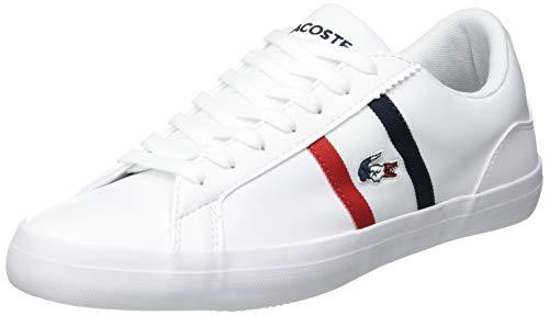 Lacoste Herren Lerond TRI1 CMA Sneaker, Blanc (Wht/NVY/Red), 44 EU